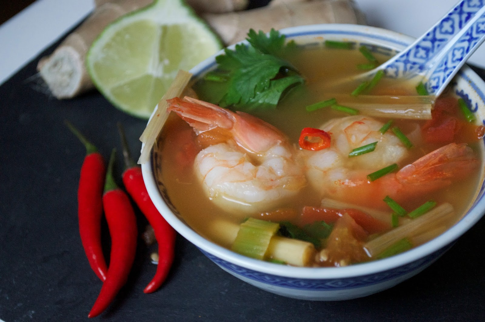The Secrets of Living: Tom Yum Goong - Spicy Thai Soup with Shrimp and ...