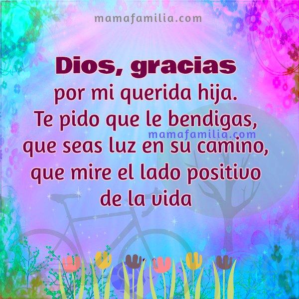 Oración corta por mi hija, oraciones de familia, yo oro por mi hija querida, Señor, bendice a mi hija.