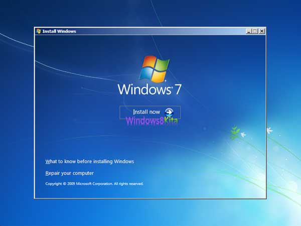 Panduan Cara Instal Windows 7 step 4