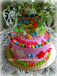 Standing Edible Image Birthday cake