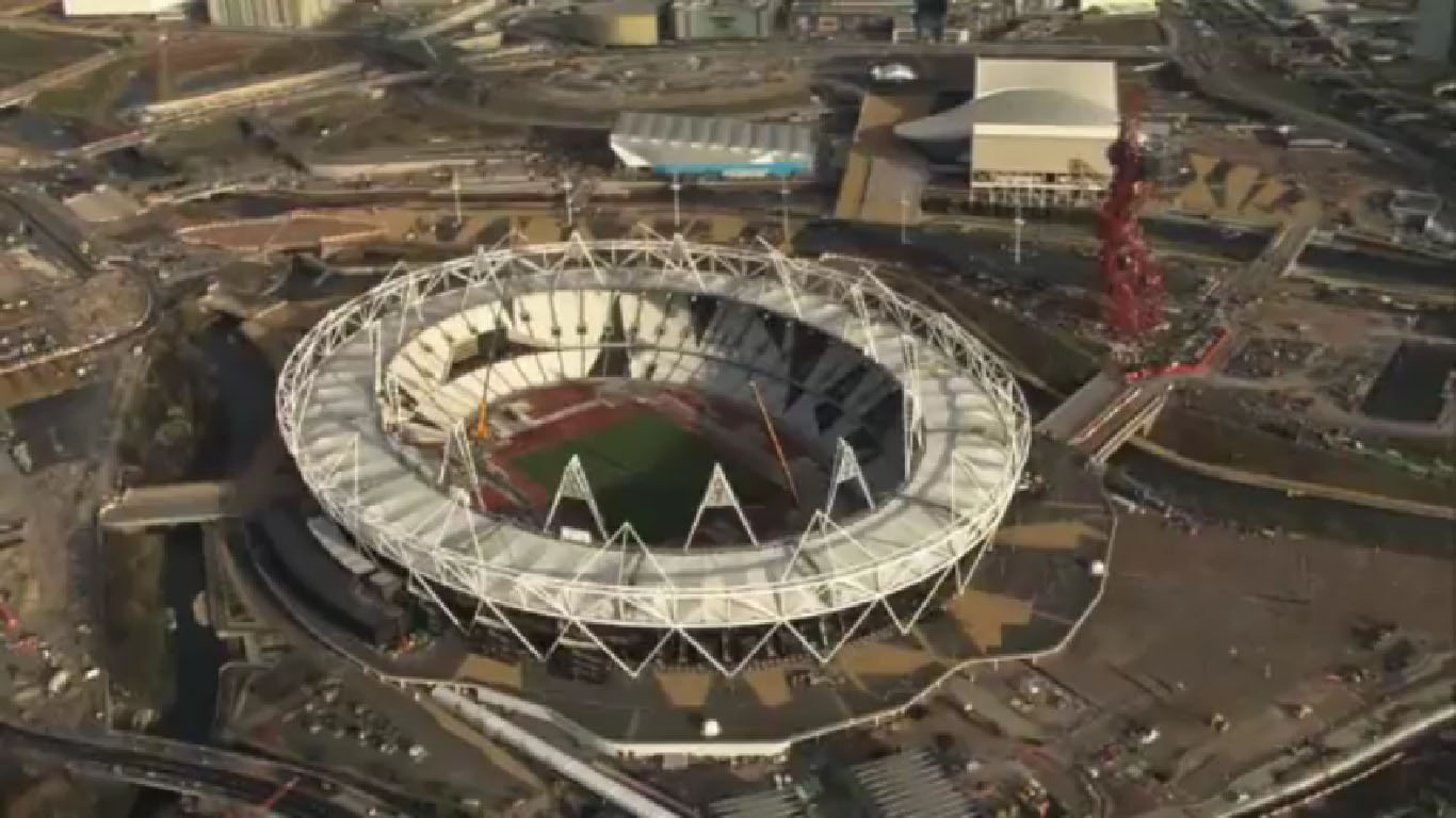 Olympic Park of London 2012 &#8211; fly-through Video