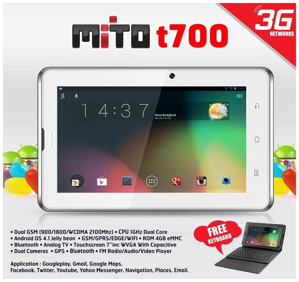 MITO T700 Tablet Terbaru 3G