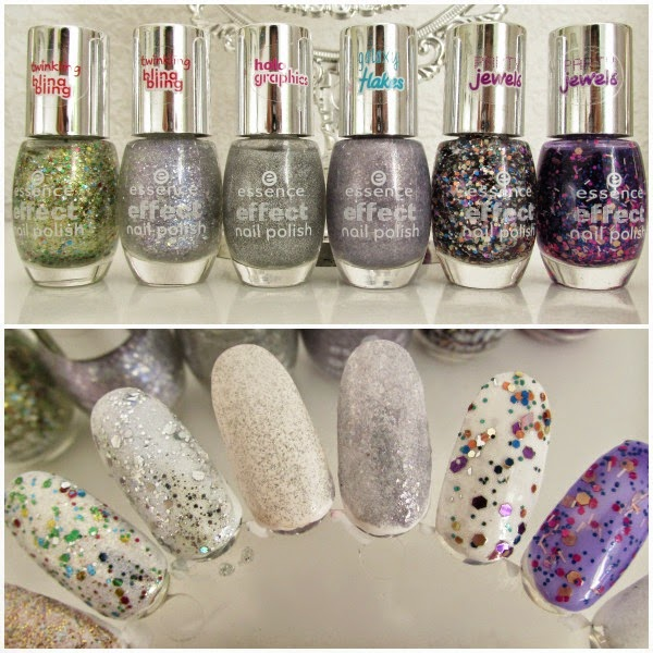 essence Effect Nail Polish Swatches - 20 hidden garden, 21 iciy fairy, 22 i <3 magic, 23 rock my world, 24 party never ends, 25 live, laugh & party Neuheiten Herbst 2014