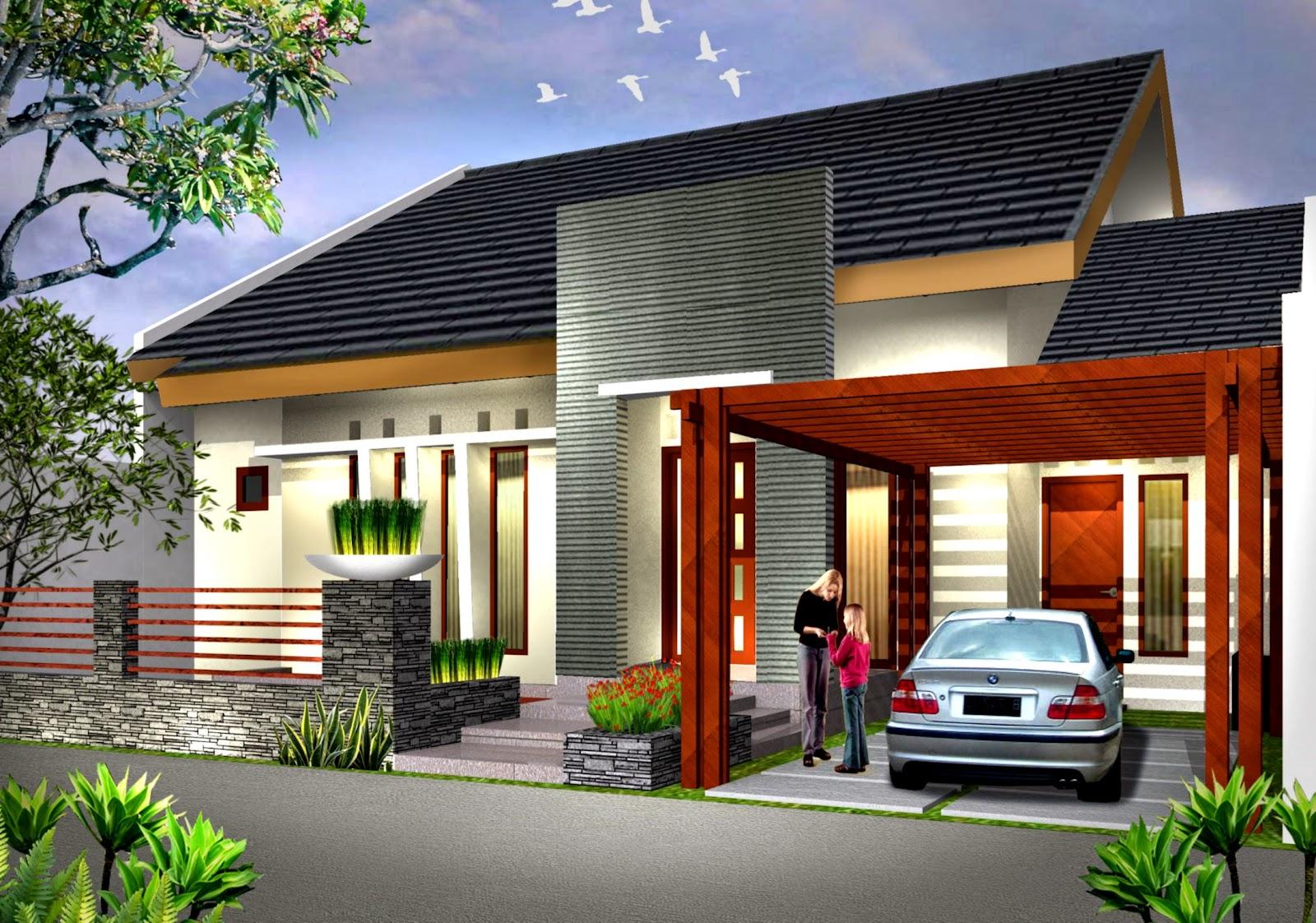 Model rumah minimalis 2 lantai sederhana 2014 2015   Gambar Rumah