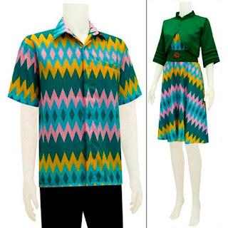 Baju Batik pasangan wanita pria motif rang rang