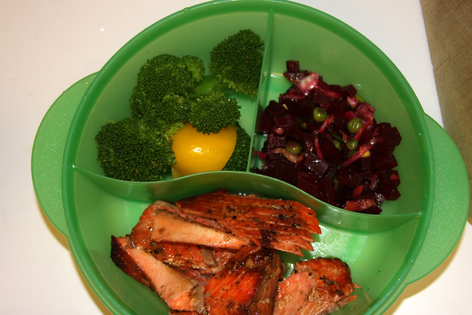 wild salmon in a lunchbox