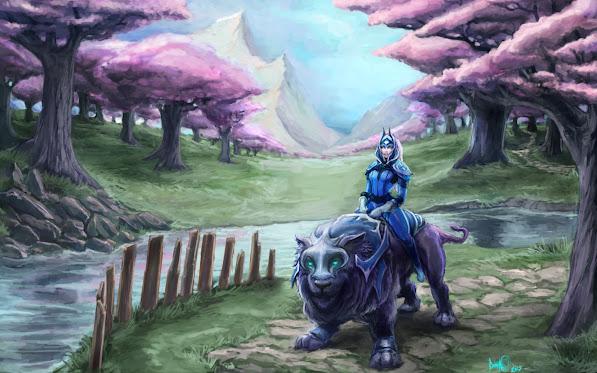 luna moon rider girl dota 2