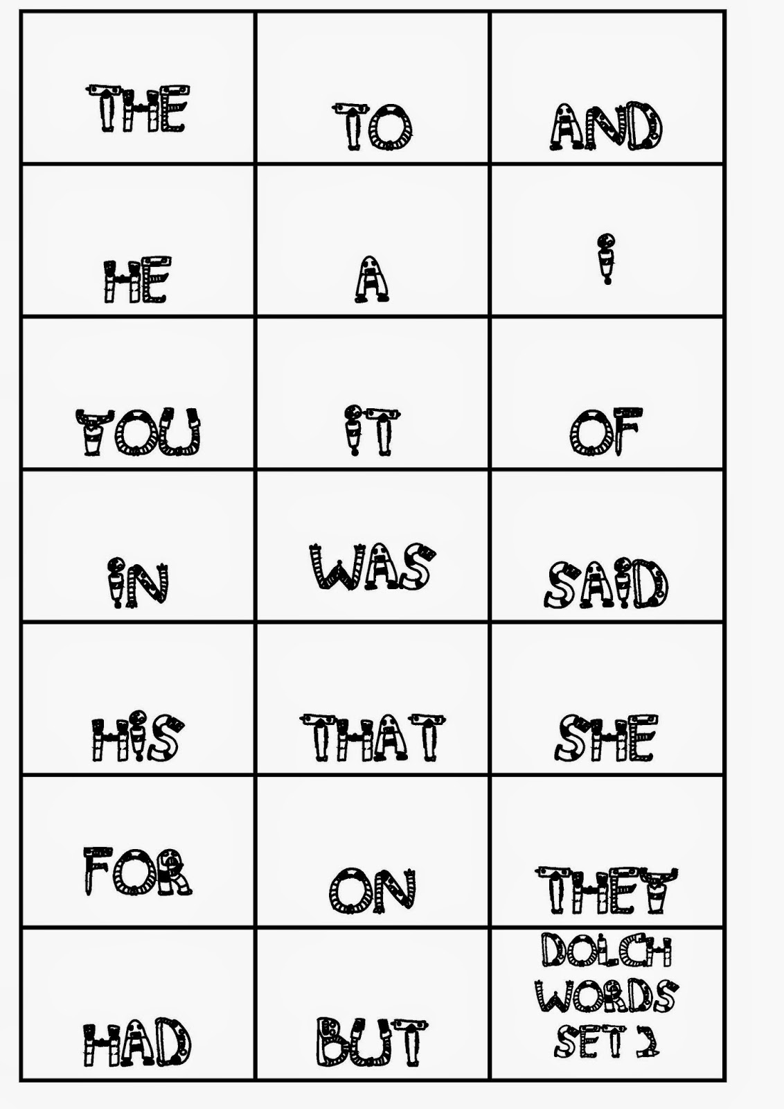 Words  Memory word Printables Game Teacher: memory Games : Cards Loop printable dolch and games Sight sight