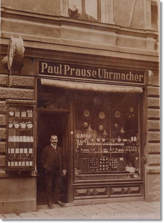 Alte Aufnahme - Uhrmacherwekstatt in Regensburg