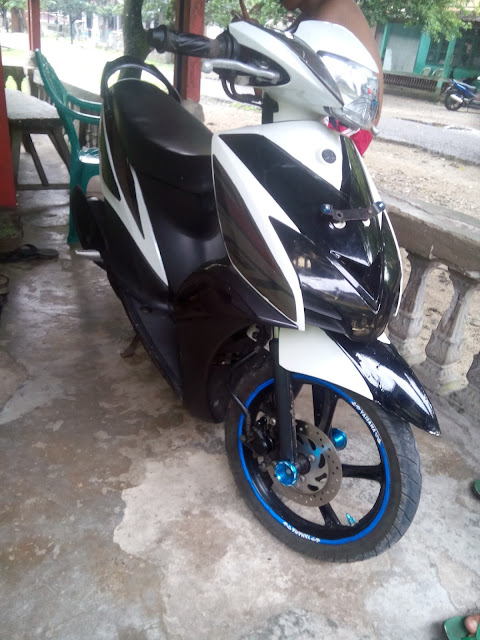 Foto gambar modifikasi cutting sticker mio gt karburator pe 38 kiriman modifier
