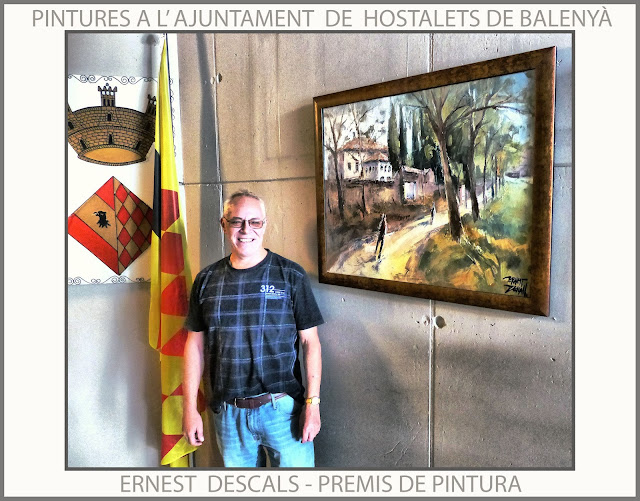HOSTALETS DE BALENYÀ-PINTURA-PREMIS-PINTURES-AJUNTAMENT-PAISATGES-CATALUNYA-FOTOS-ARTISTA-PINTOR-ERNEST DESCALS-