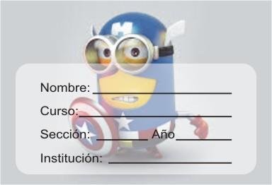 http://etiquetasparacuadernos.blogspot.com/2014/06/minions-como-capitan-america.html
