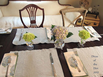 Divasofthedirt,hydrangeas on table