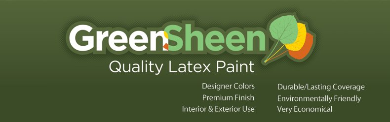 Green Sheen Recycled Paint