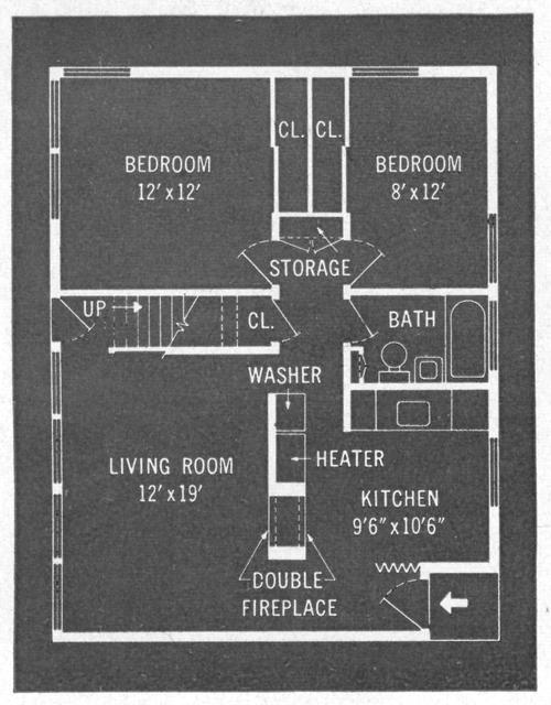 Original Levittown Ranch Floor Plan on Cape Cod House Plans