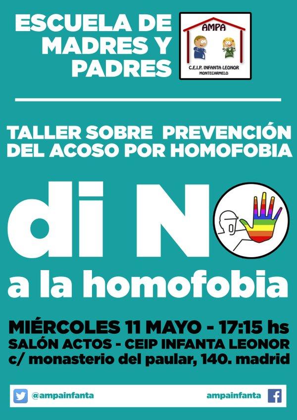 11 mayo taller contra la Homofobia