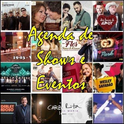 AGENDA DE SHOWS NO ESTADO DO E.S.
