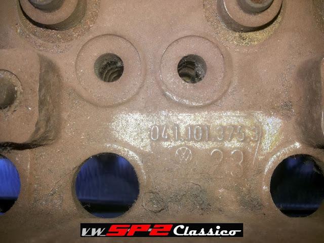 Cabeçotes originais 1700 Volkswagen SP2_e