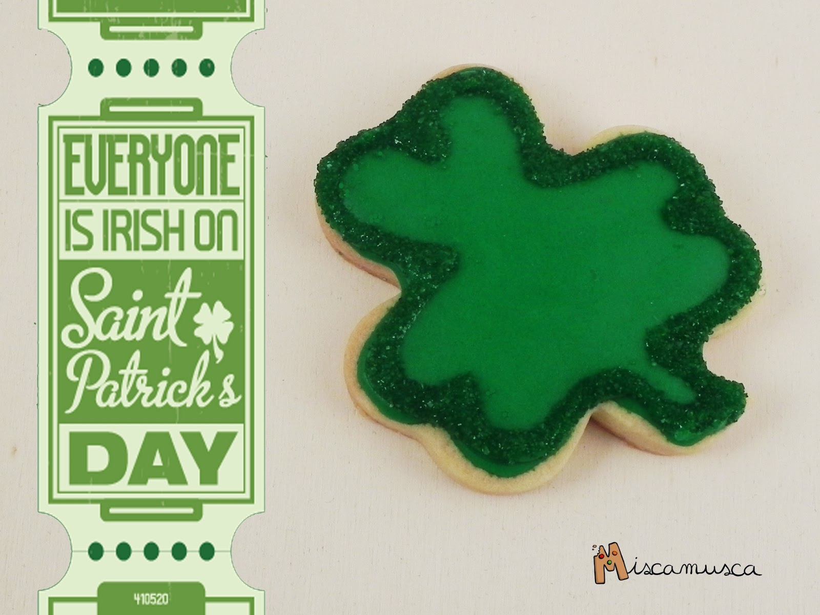Galleta decorada trébol San Patricio