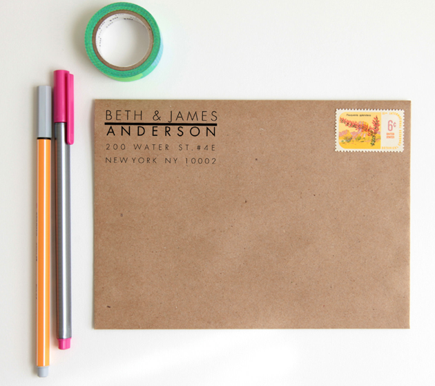 simple return address stamps