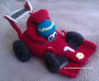 amigurumi coche de carreras