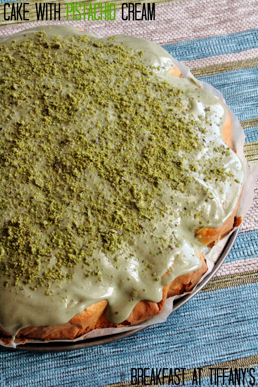 torta con crema di pistacchio / cake with pistachio cream