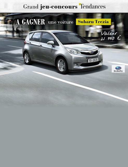 Une voiture Subaru Trezia à gagner