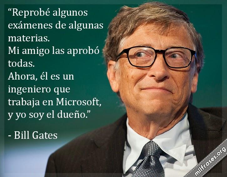 frases de Bill Gates, empresario estadounidense, cofundador de Microsoft.