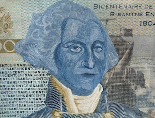 Henry Christophe + George Washington on 100 gourdes note