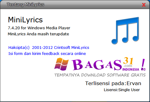 MiniLyrics 7.4.2 Full Loader 3