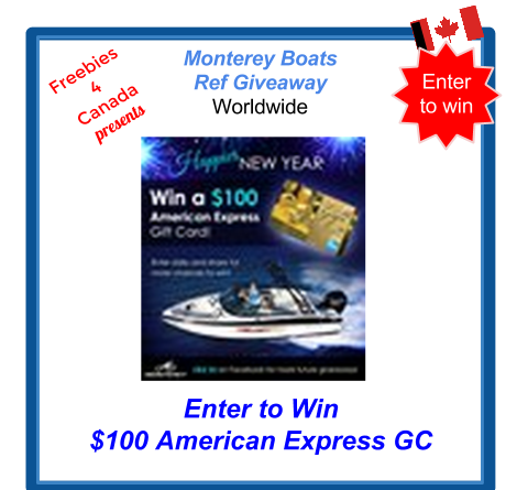 image Canadian Freebie Free Sweepstakes Enter to Win $100 American Express Gift Card from Monterey Boats