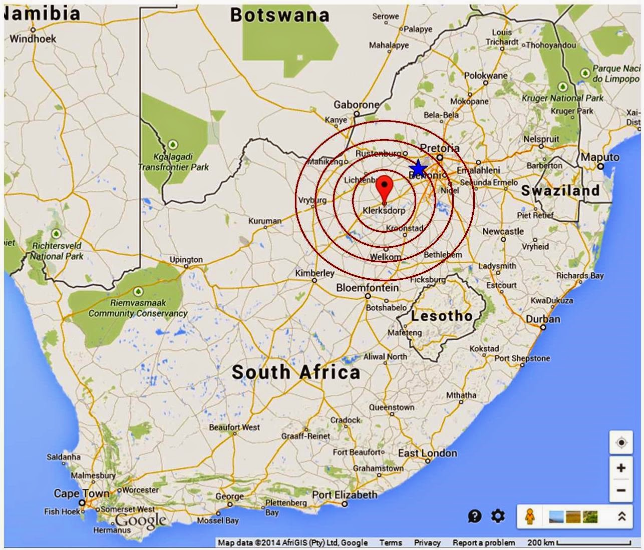 Roots n Shoots Earthquake hits Central South Africa