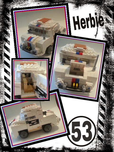 I love this Herbie LEGO Creation.  How fun!