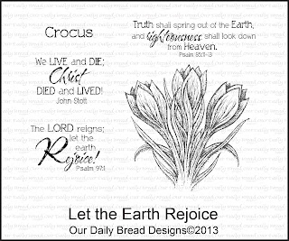 Our Daily Bread designs, Let the Earth Rejoice