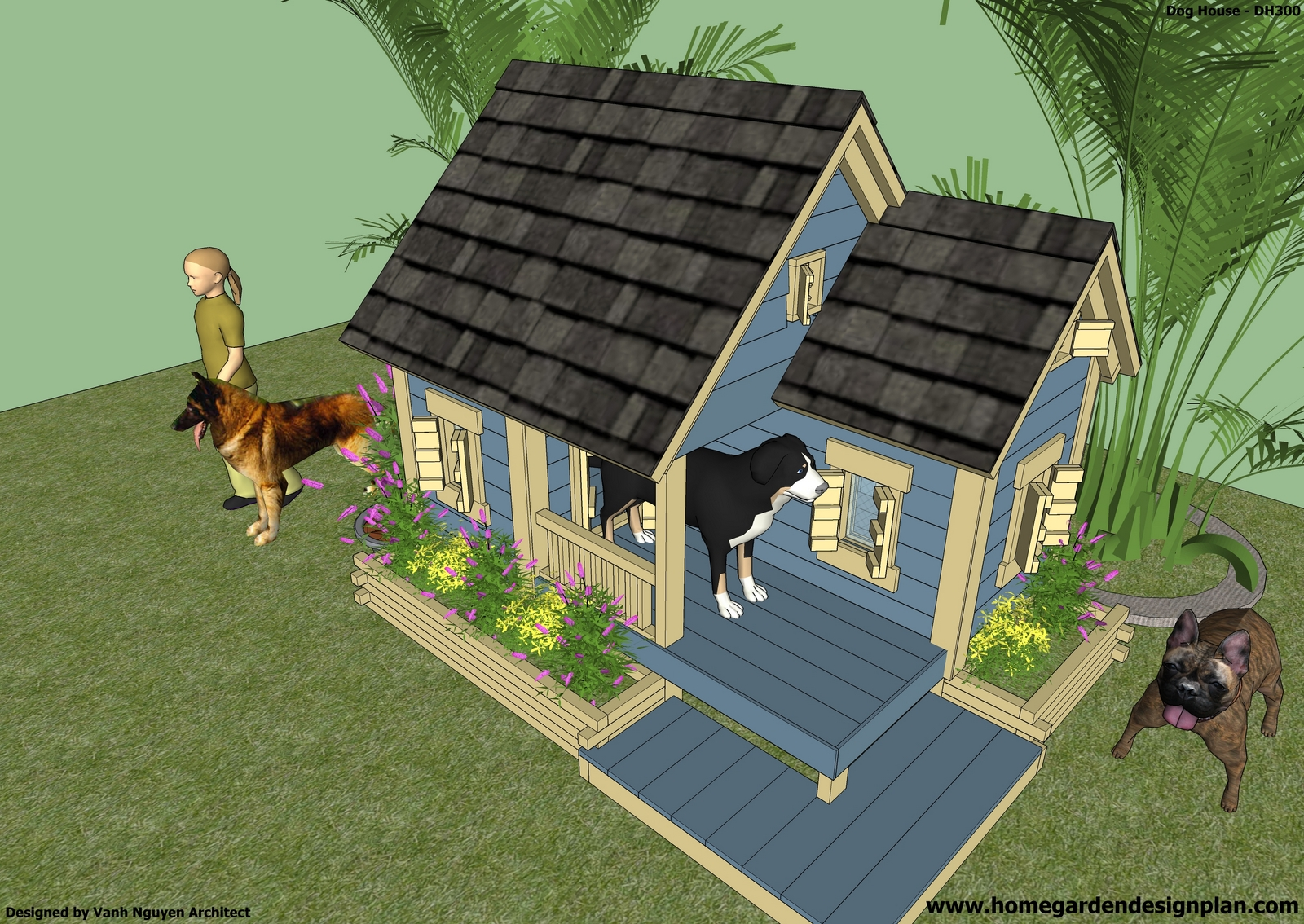 House construction dog house construction plans for Kennel construction plans