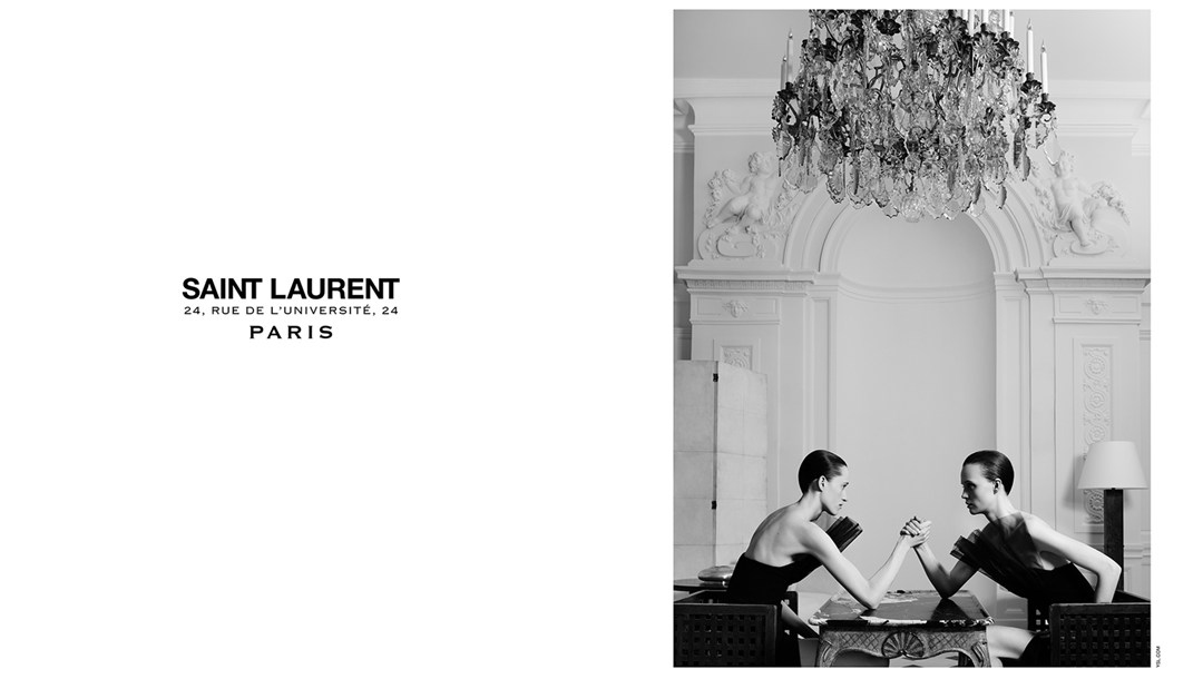 Yves Saint Laurent Couture campaign by Hedi Slimane