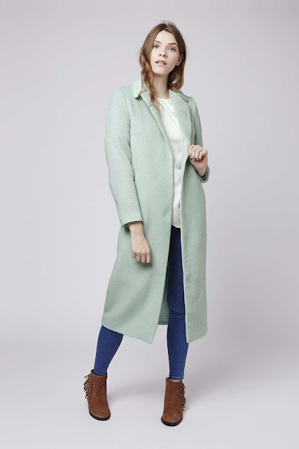 topshop mint coat, jovonna mint green coat, mint maxi coat,