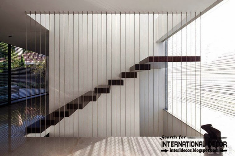 creative stairs design 2015 and suspended staircase for modern interior