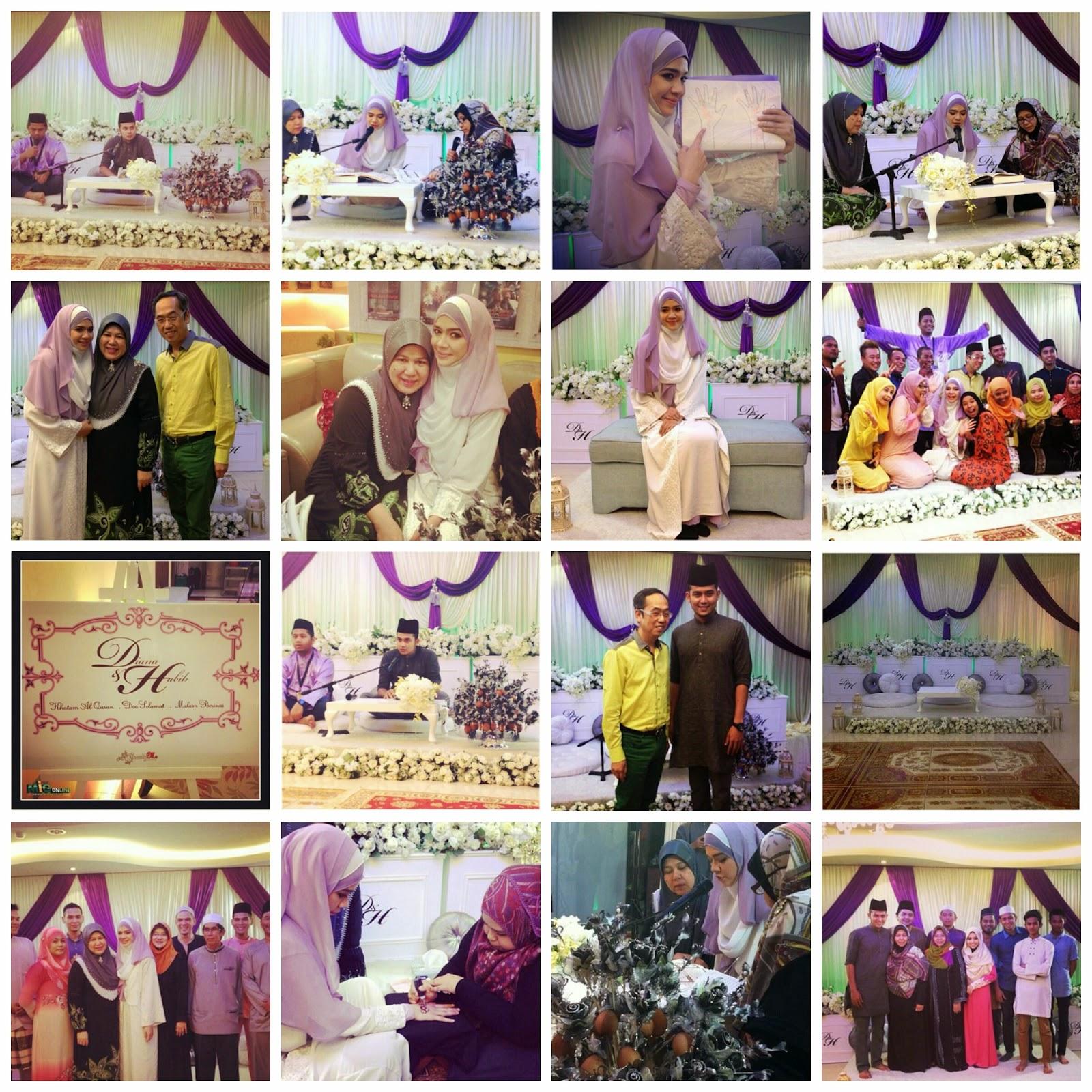 Gambar Majlis Khatam Al Quran Doa Selamat dan Malam Berinai Diana Amir