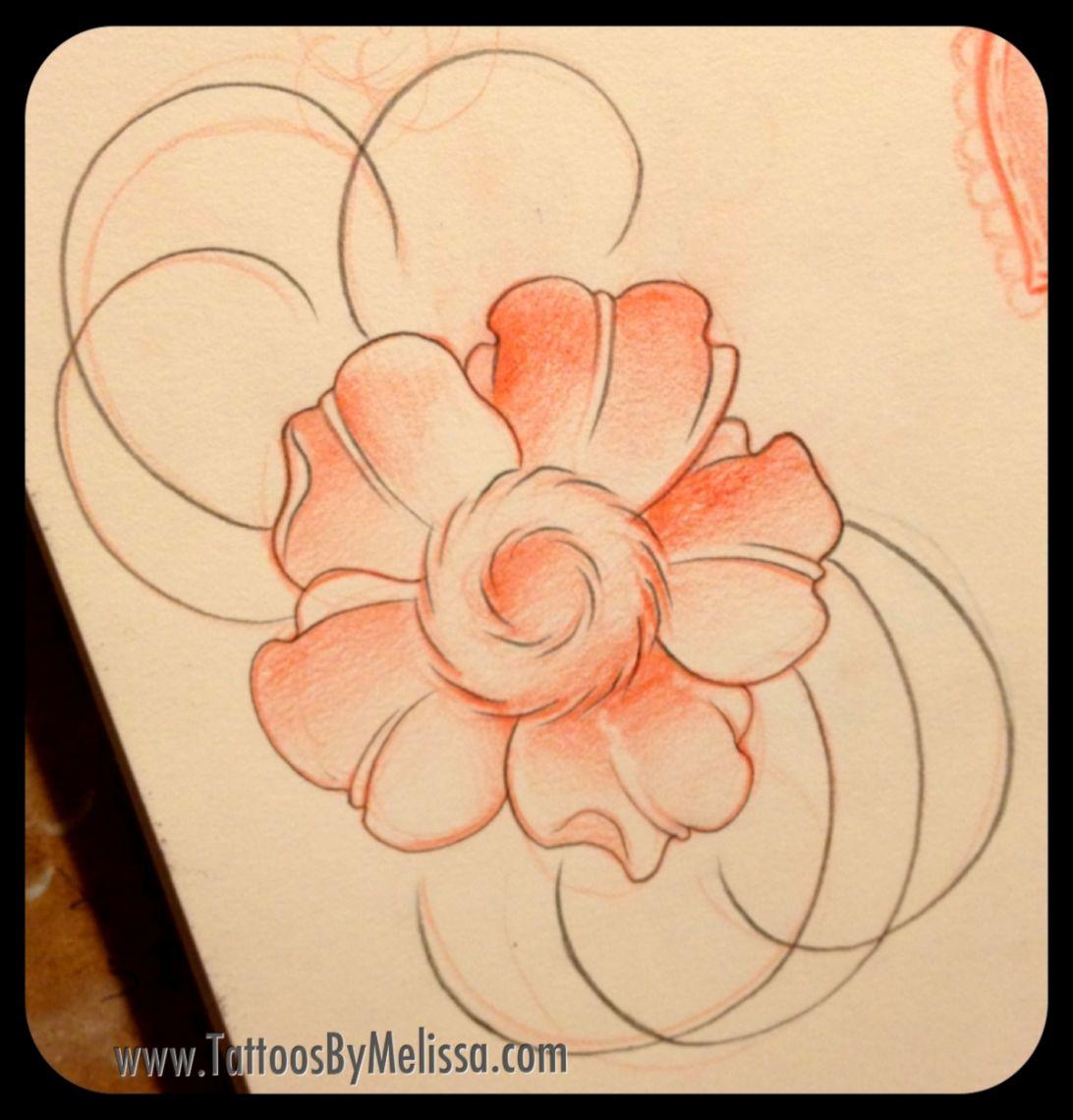 flowers  Atlanta Tattoo Artist Melissa Capo