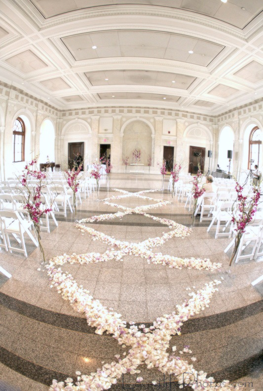 Petals In A Crisscross Pattern Line The Aisle And Bring Fresh Design To An Old Tradition