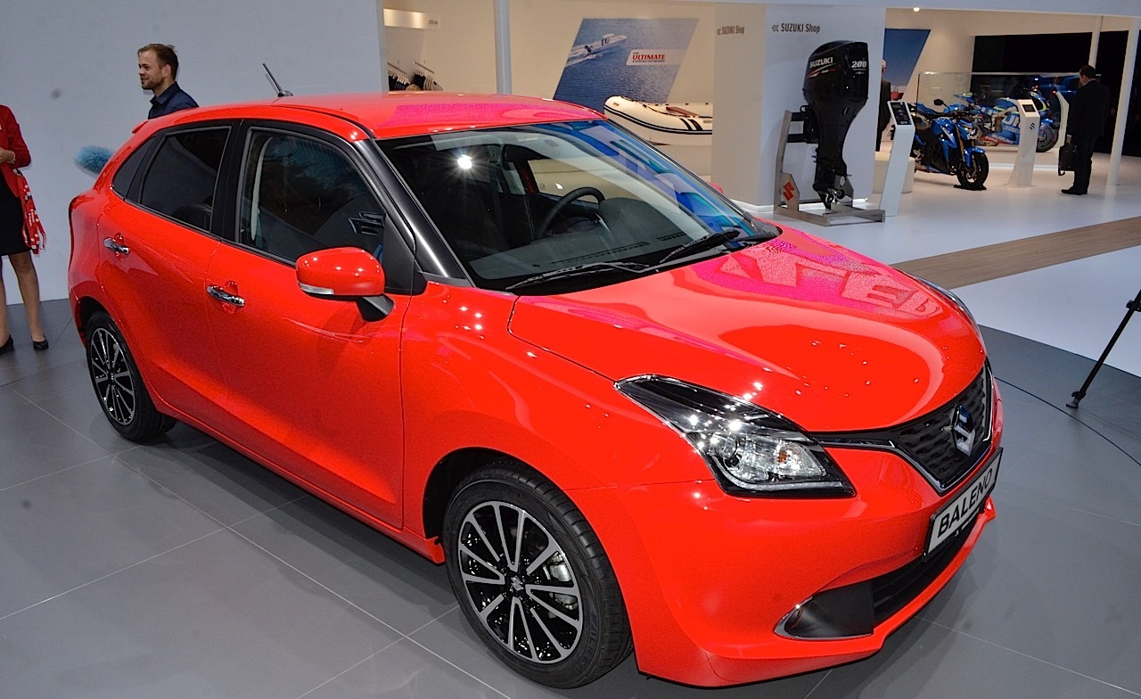 2016 new maruti suzuki baleno at the iaa 2015 live. Black Bedroom Furniture Sets. Home Design Ideas