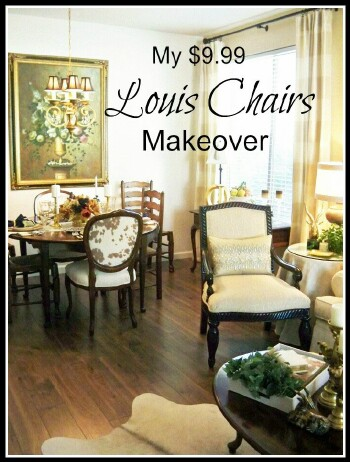 My $9.99 Goodwill Louis Chairs Makeover