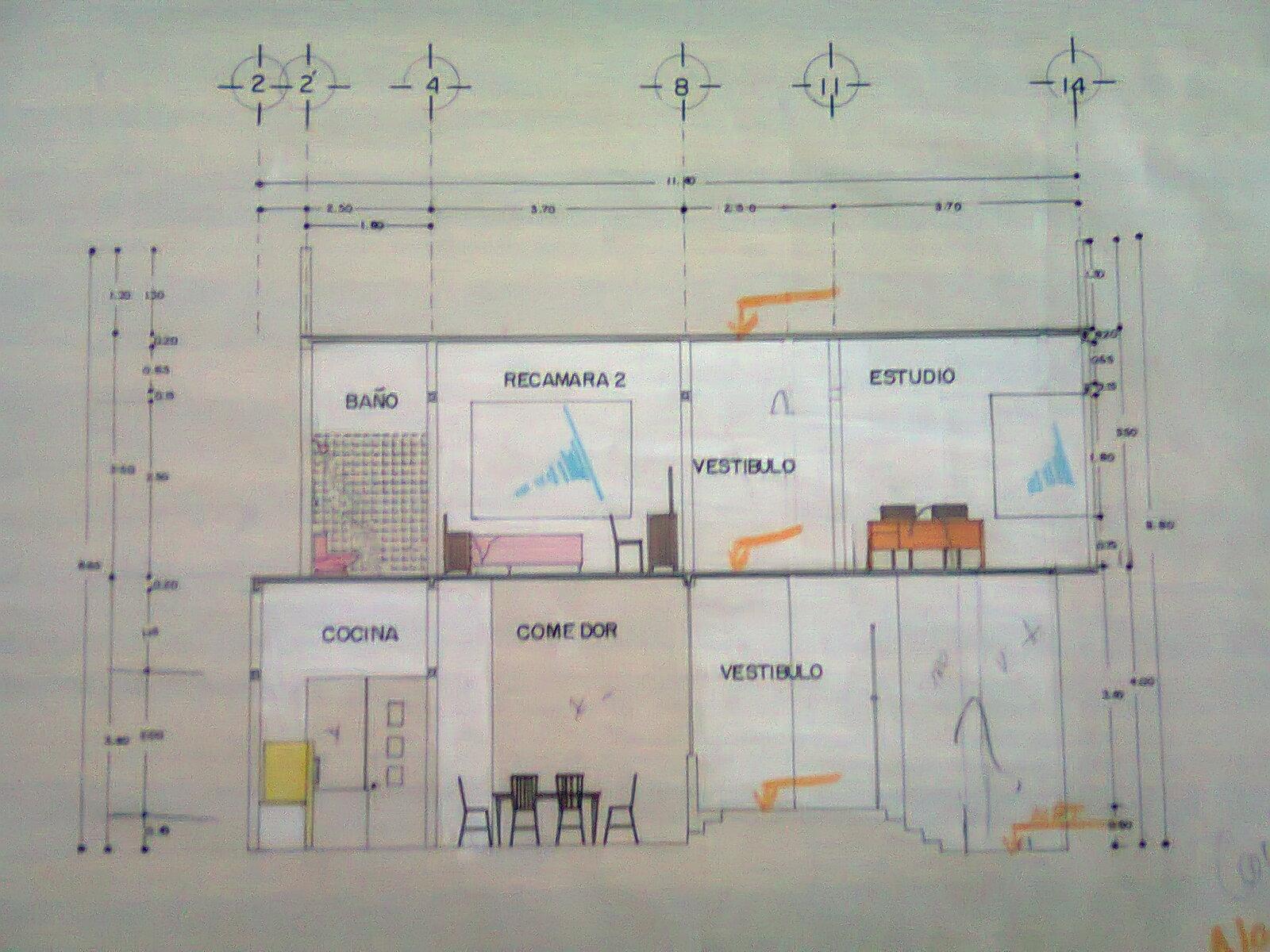 Arodi a uicab marin planos arquitect nicos de casa for Libros de planos arquitectonicos