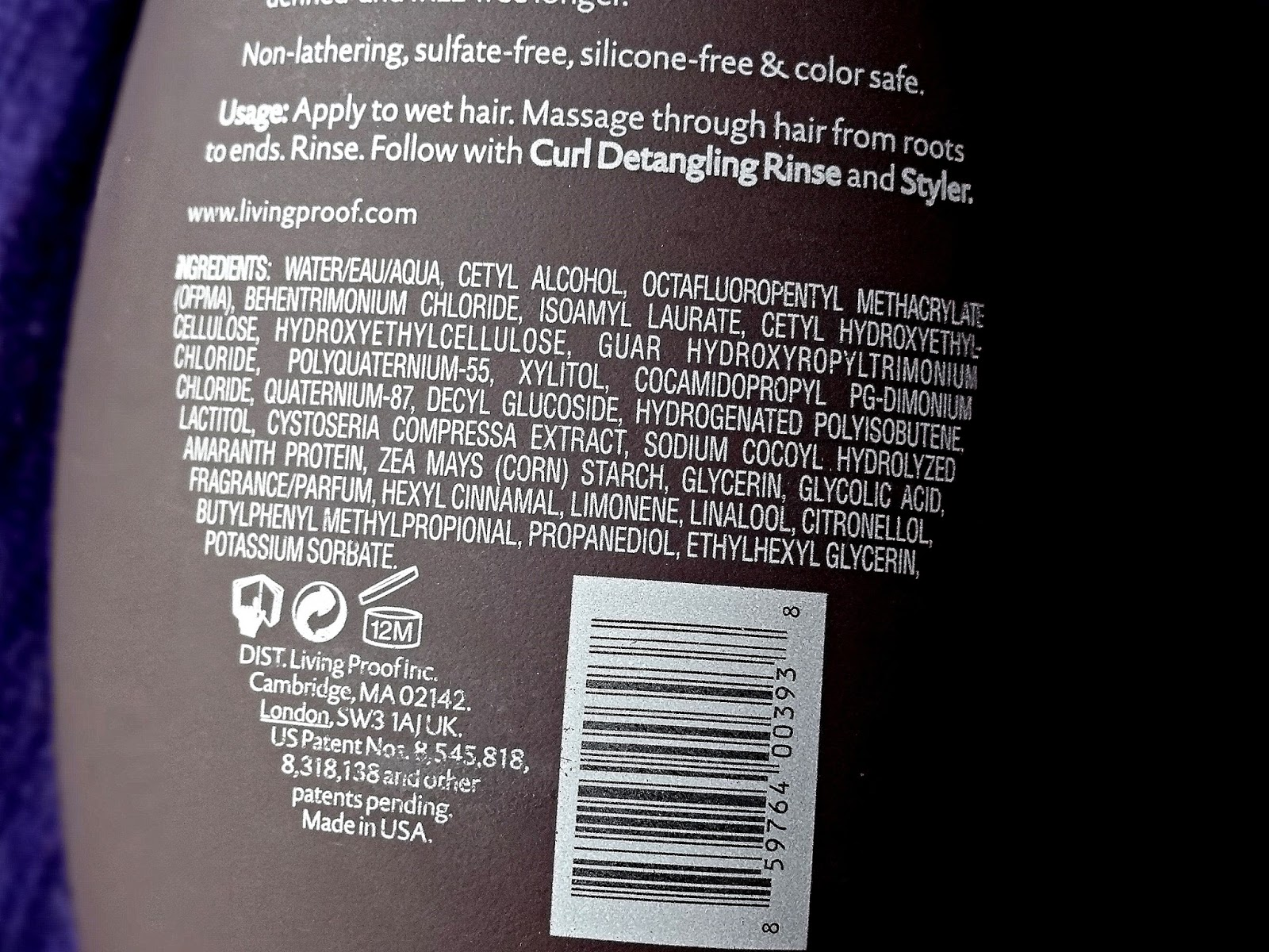 Living Proof Curl Conditioning Wash Ingredients