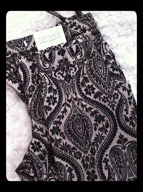 topshop trousers, barroco
