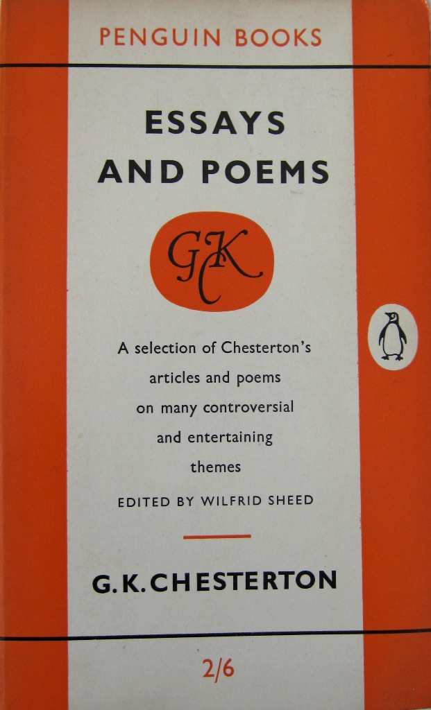 a penguin a week penguin no essays and poems by g k  penguin no 1068 essays and poems by g k chesterton