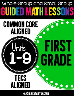 https://www.teacherspayteachers.com/Product/Guided-Math-First-Grade-Units-1-9-Bundle-1940110