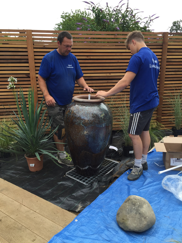 Greencube garden and landscape design uk summer colour for Recirculating water feature