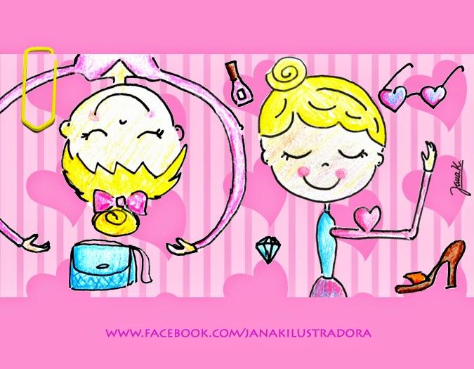 Ilustração, ilustradora, bonecas, ginastas, joinville, sc,brasil, GR, Ginástica Rítmica, Jana K.